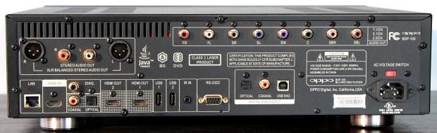 Oppo BDP-105 Back Panel Full