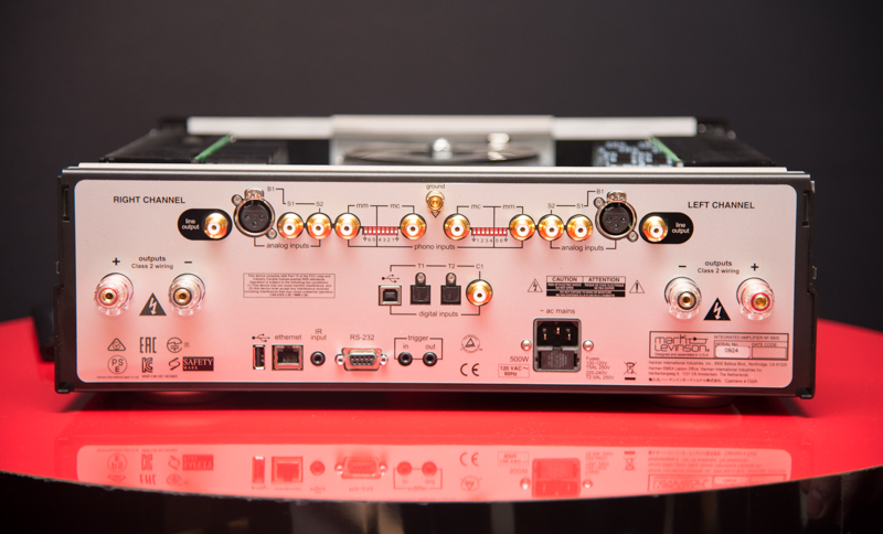 The Mark Levinson 5805 and 5803 amplifiers