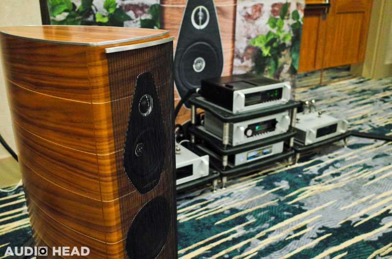 Sonus Faber Olympica Nova speaker line at RMAF 2019. Shown with Audio Research amplifiers.