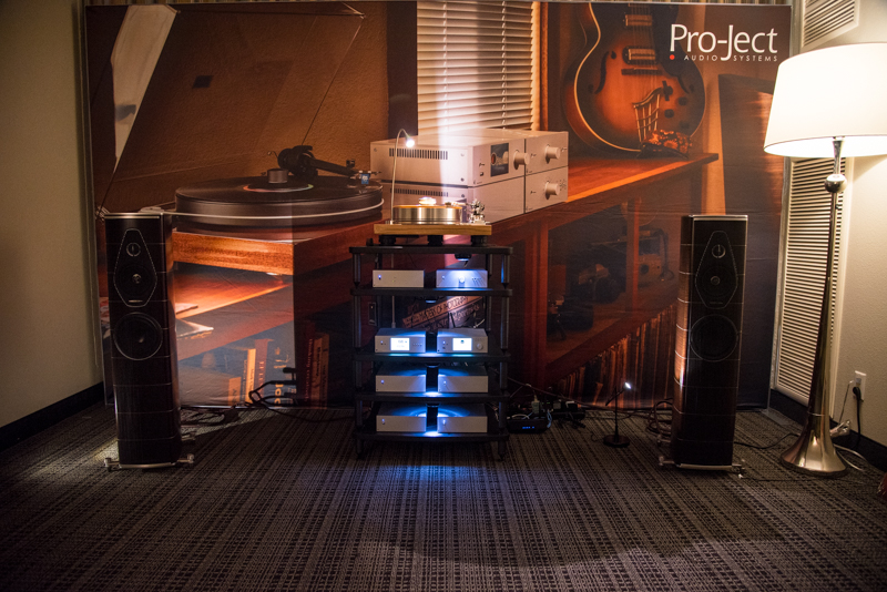 Pro-Ject Turntables, Sumiko and Sonus Faber at the Florida Audio Show.