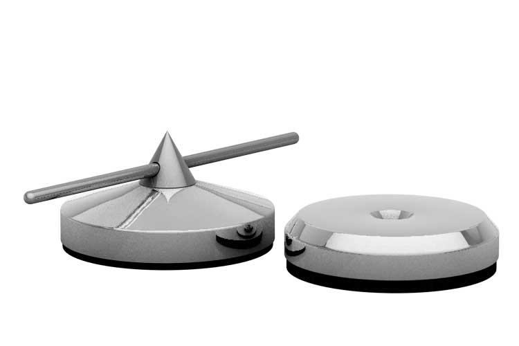 Spike Ø 30mm und Disk Ø 30mm silber