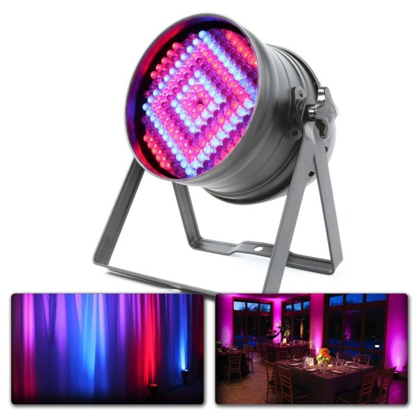 BeamZ LED PAR64 180x 10mm LED's RGB, met DMX