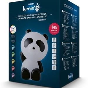 Bluetooth Usb Aux Speaker With Light - Panda