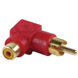 Diverse Valueline Stereo-Audio-Adapter 90° Haaks RCA Male - RCA Female