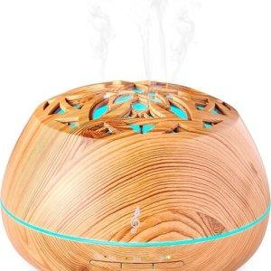 Aromasound Bluetooth Speaker Luminous Diffuser - Wood - Accessoires (3499550379372)