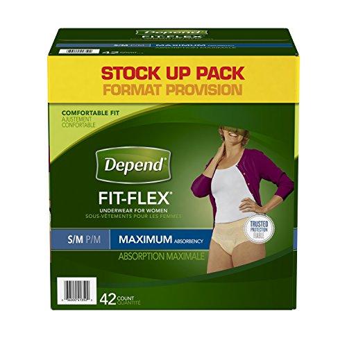 Depend FIT FLEX Incontinence Underwear For Women Maximum
