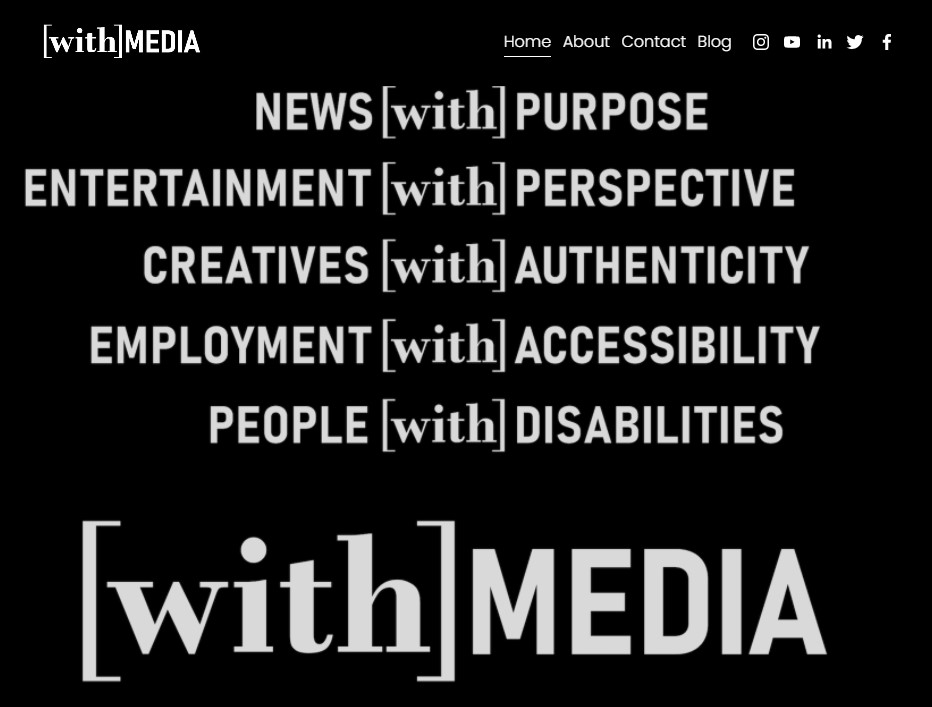 image of the With-Media website