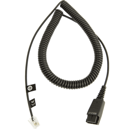 GN 1200 CC 2m Coiled QD to Mod Plug 1