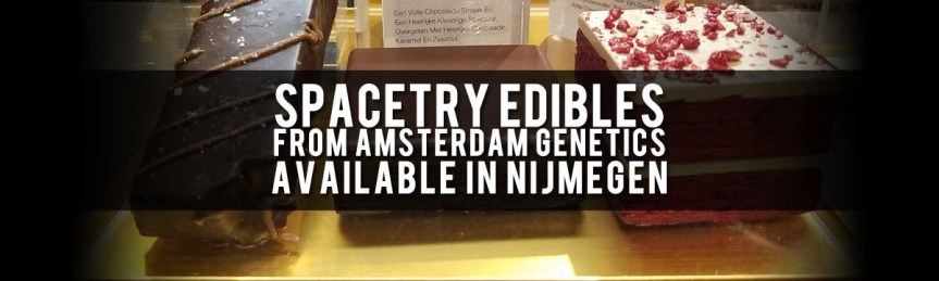 Amsterdam Genetics Spacetry THC-Infused Edibles, Red Velvet Cake and Brownies, Coffeeshop 't Kunsje, Nijmegen