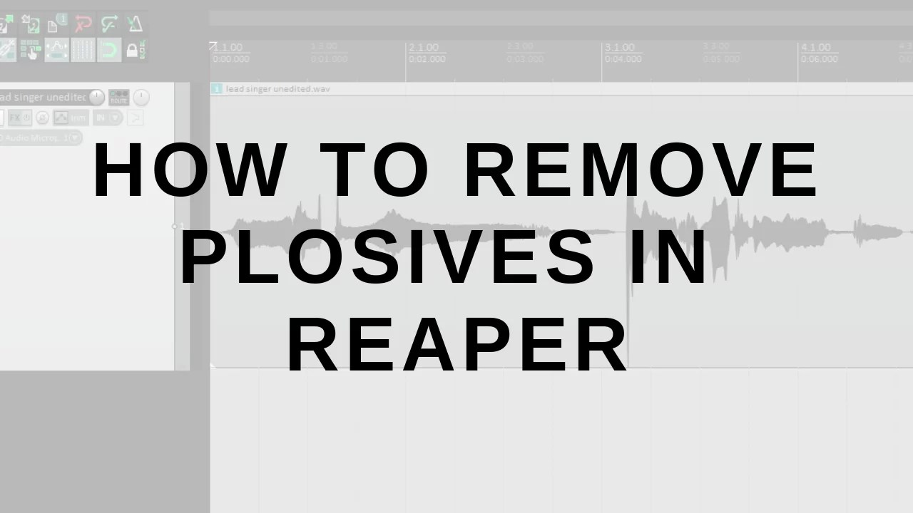 How To Quickly Remove Plosives in Reaper - Audio Ordeal