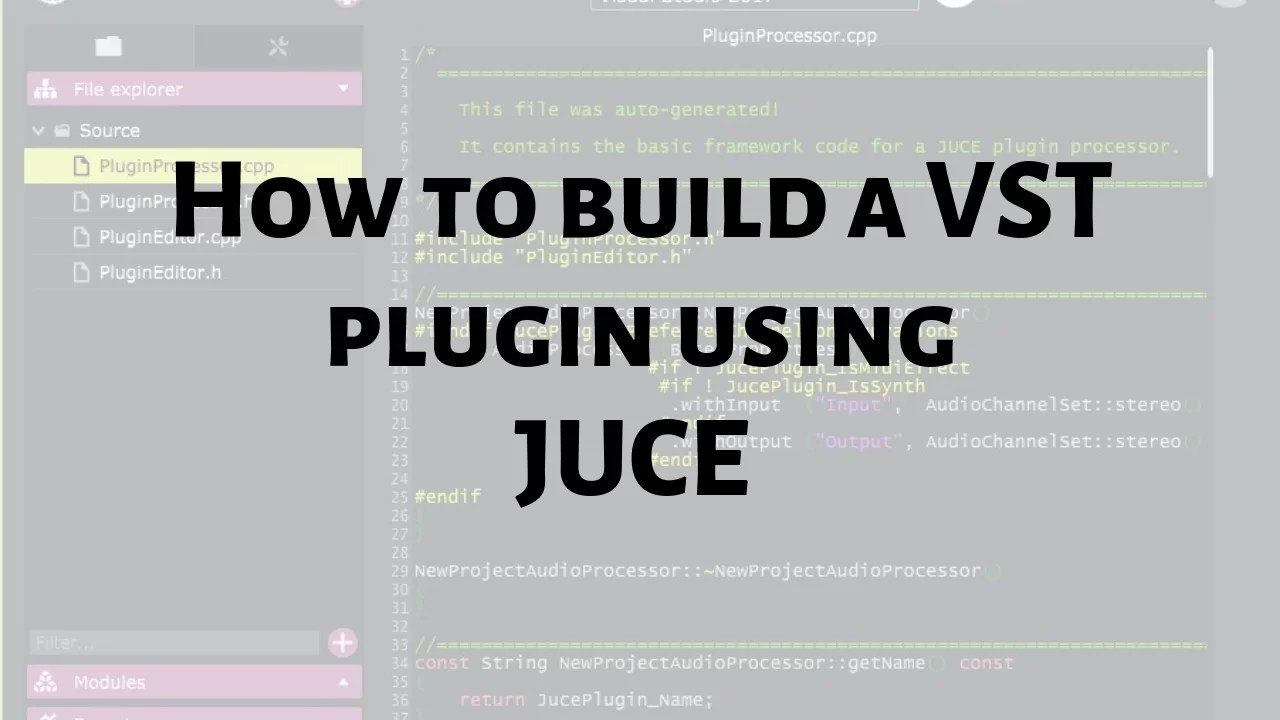 How to build a VST - Lesson 1: Intro to JUCE - Audio Ordeal