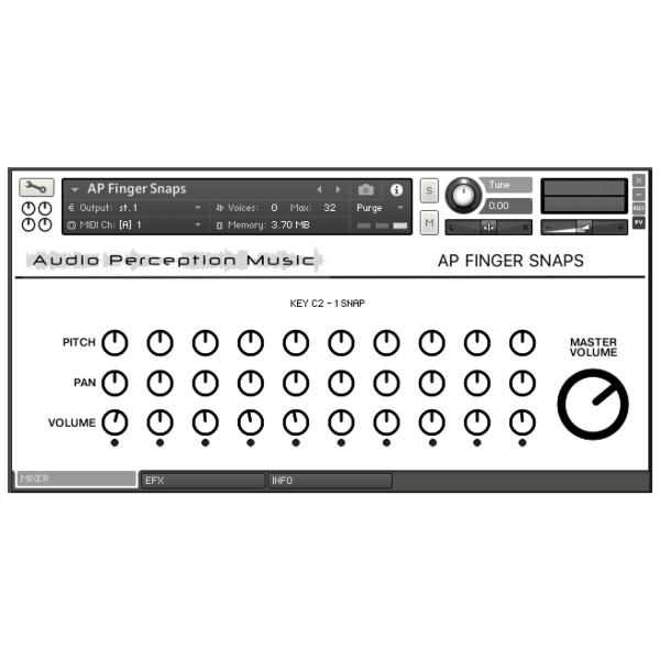 AP Finger Snaps GUI Mixer