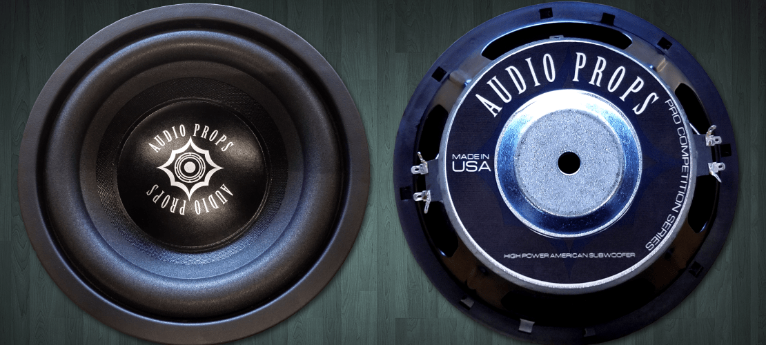 Audio Props ten inch subwoofer image front and back