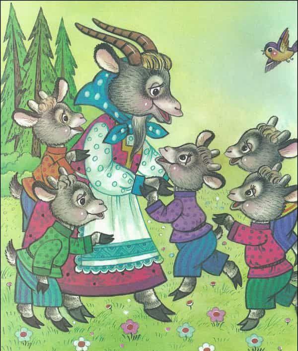 незаменимый картинки козы и козлят из сказки волк и семеро козлят движение передние колеса