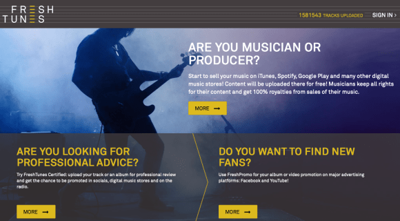 Free music distribution platform FreshTunes