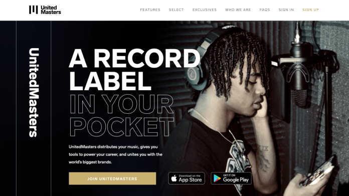 Free music distribution platform United Masters