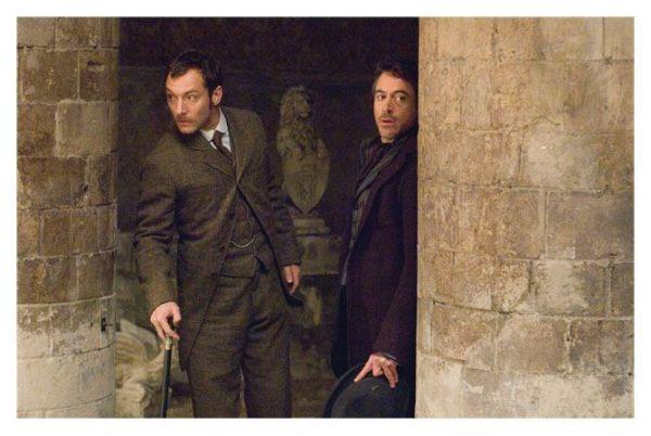 Sherlock Holmes con el Dr. Watson