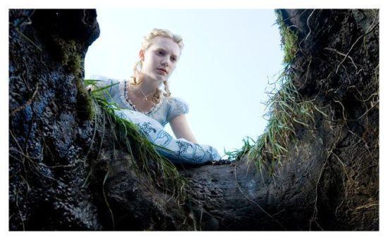 Mia Wasikowska en Alicia en el País de las Maravillas (Tim Burton)