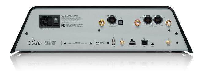 Servidor de música Full HD: OLIVE O6HD (panel trasero)