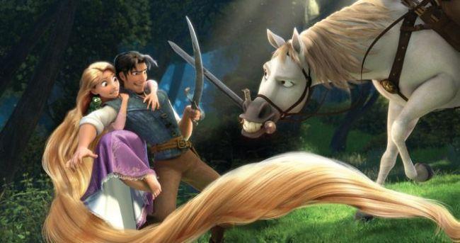 Rapunzel, Flynn Rider y el caballo (Enredados)