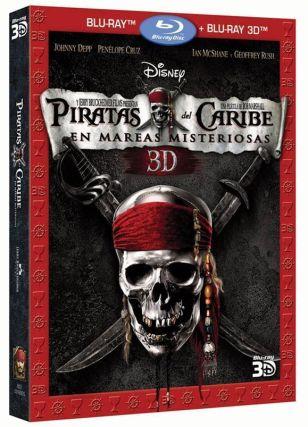 """""""Piratas el Caribe: en mareas misteriosas"""" (2011) Edición Combo 3D"""