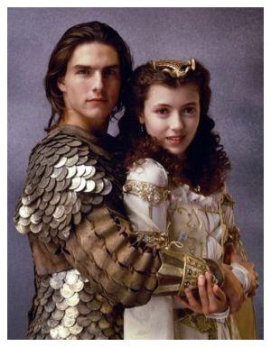 """Tom Cruise y Mia Sara en """"Legend"""" (1985)"""