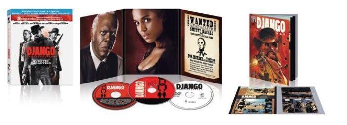 Django desencadenado (2012) Blu-ray Combo BD+DVD+BSO+Comic