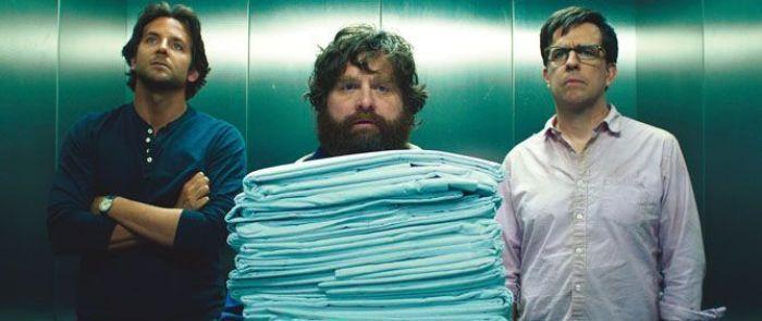 "Bradley Cooper, Zach Galifianakis y Ed Helms en ""R3SACÓN"" (2013)"