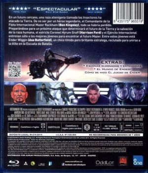 El Juego de Ender - contraportada del Blu-Ray
