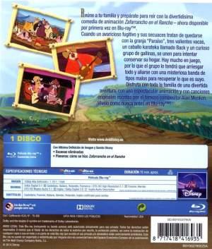 """parte trasera del estuche de """"Zafarrancho en el rancho"""" (2004)"""