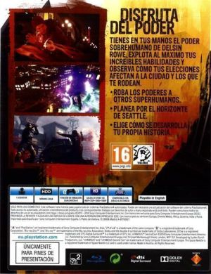 Infamous Second Son (2014) CONTRAPORTADA