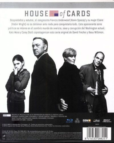 House of Cards (temporada 1 en Blu-Ray)