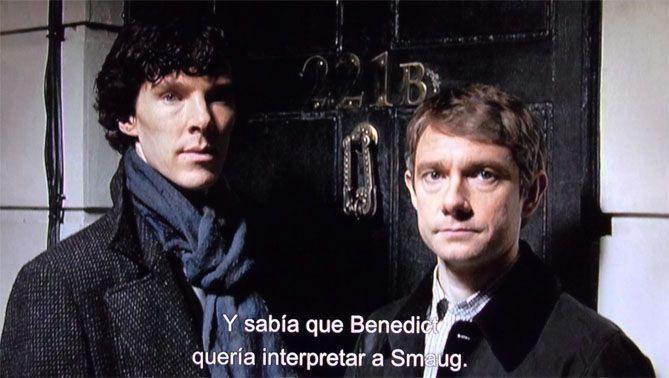 Sherlock y Watson o Smaug y Bilbo EL HOBBIT: LA DESOLACIÓN DE SMAUG (Edición Extendida)
