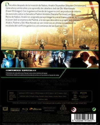 STAR WARS. EL ATAQUE DE LOS CLONES (análisis del Blu-Ray) AudioVideoHD.com