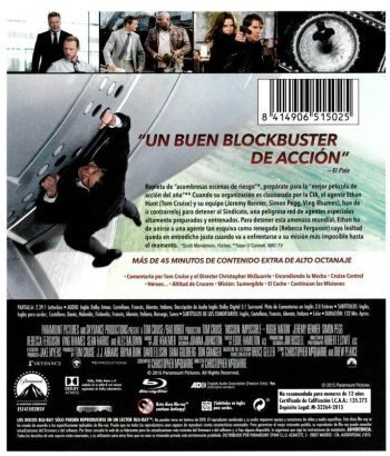 MISIÓN IMPOSIBLE: NACIÓN SECRETA (análisis del Blu-Ray) AudioVideoHD.com