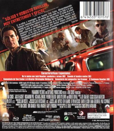 Jack Reacher (2012) reedición del 2016. AudioVideoHD.com
