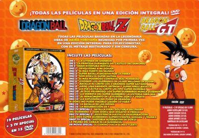 DRAGON BALL. LAS PELÍCULAS. COLECCIÓN COMPLETA. ( 19 PELÍCULAS + 3 TV ESPECIAL EN 15 DVD) AudioVideoHD.com