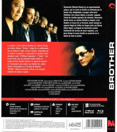 Brother (2000) Blu-Ray analizado en AudioVideoHD.com