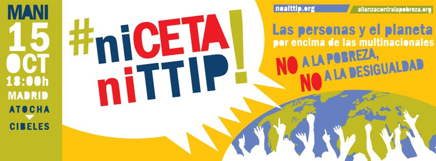 "Manifestación ""NI CETA NI TTIP"""