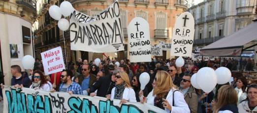 Manifestación Málaga Por Una Sanidad Digna – 12/03/2017