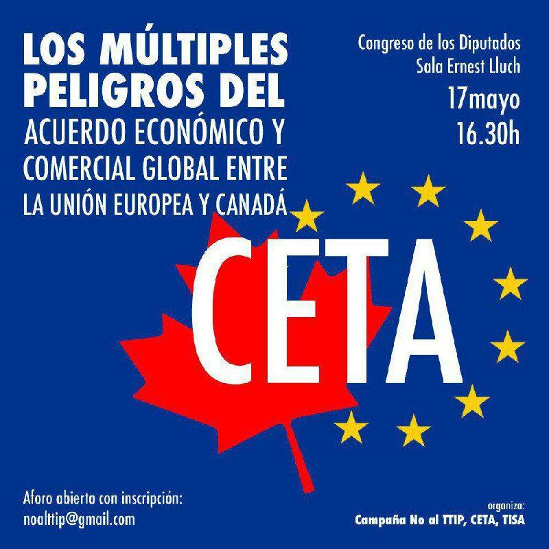 Acto Contra El CETA En El Congreso De Los Diputados – 17/05/2017