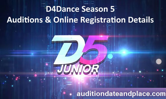 D4Dance 2019 Season 5 – Auditions & Online Registration Details