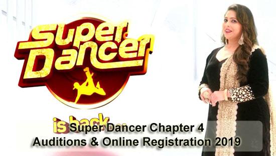 `Super Dancer Chapter 4 – Auditions & Online Registration 2019