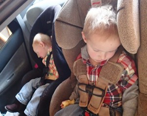 Both kids were exhausted by the time we headed home.
