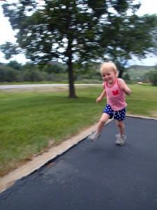 Ellen running SO fast.