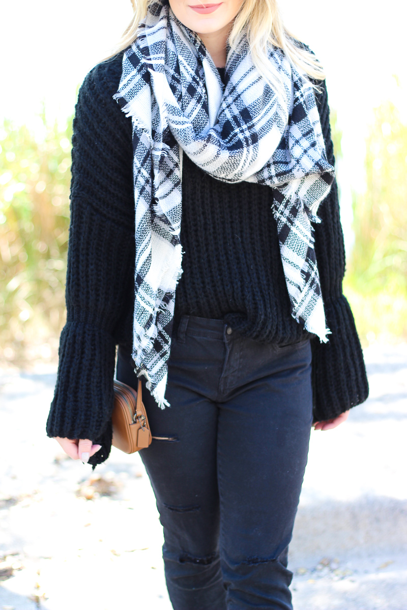 Bell sleeved Sweater + Pac Man Crossbody | AMS Blog