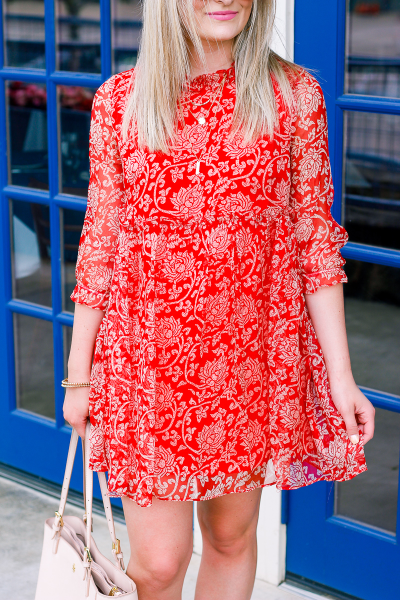 Babydoll red dress | Summer/Spring Friendly | Friday Favorites | lifestyle and fashion blogger Audrey Madison Stowe