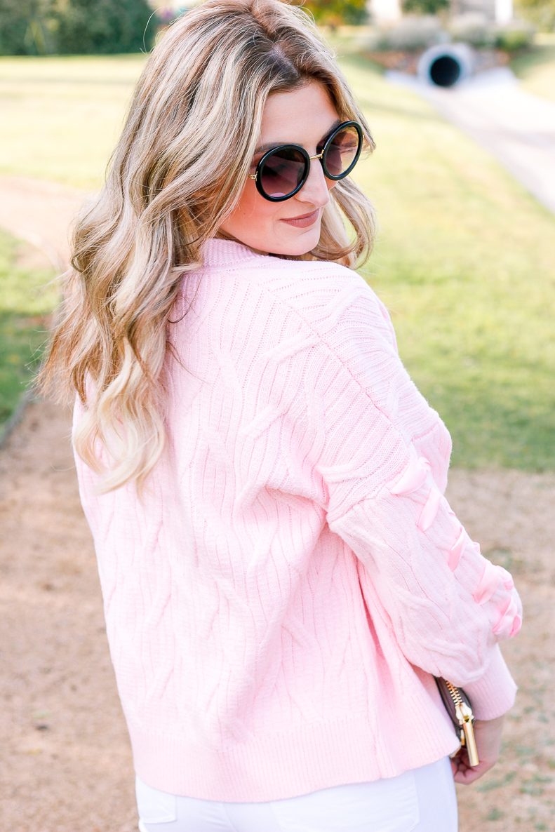 Pink Cardigan with Zaful   Fall Style   Girly things   Audrey Madison Stowe a fashion and lifestyle blogger