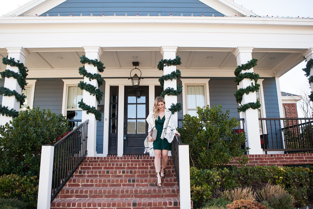 Holiday Inspired Look | Pine Green Dress To Make You Stand Out | Audrey Madison Stowe a fashion and lifestyle blogger