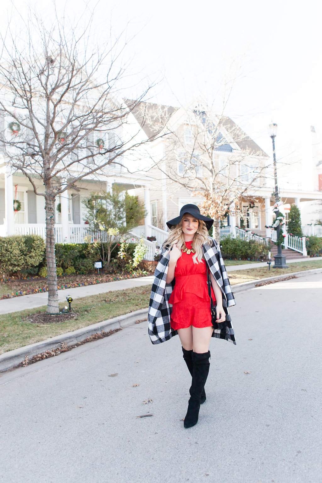 Holiday Inspired Look | Red Dress | Audrey Madison Stowe a fashion and lifestyle blog - 5 Holiday Looks To Get Inspired by Texas fashion blogger Audrey Madison Stowe